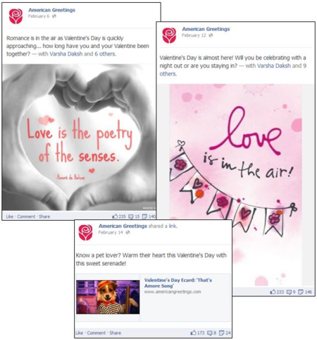 American Greetings' VTine Posts