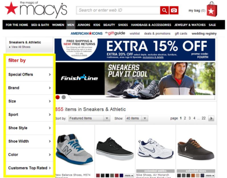 Macy's screenshot