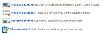 New google adwords policy