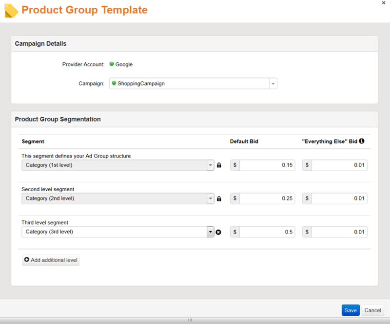 Product Group Template