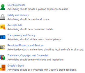 Existing google adwords policy